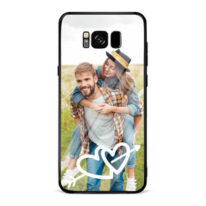 Custom Lover Photo Protective Phone Case for Samsung Arrow & Hearts