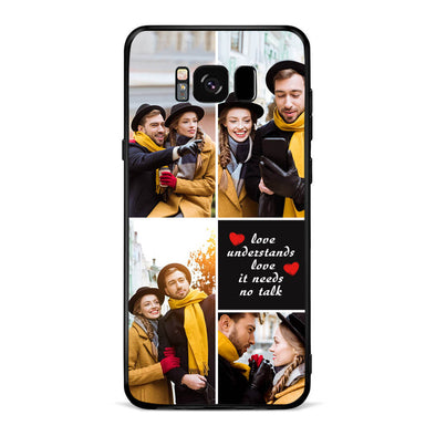 Custom Photo Protective Phone Case for Samsung with Text