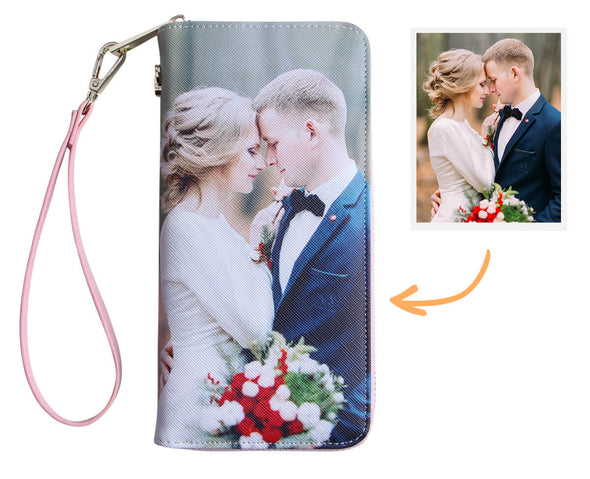 Personalized Photo Wallets for Women|Two side 3D Print Leather Long Wallet
