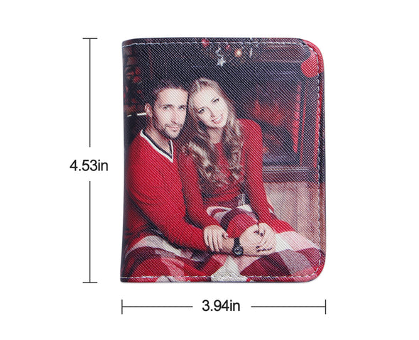Personalized Photo Wallets|Two side 3D Print Leather Short Money Clip