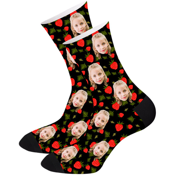 Custom Strawberry Socks Personalized