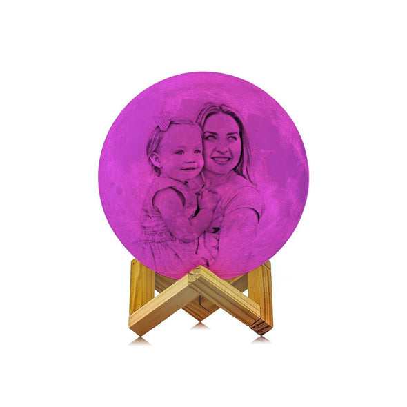 Customized Moon Lamp with Picture Custom 3D Photo Engraved Moon Light 16 Colors