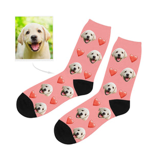 Custom Dog Lover Photo Socks