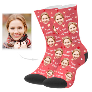 Custom Photo Socks with Your Name