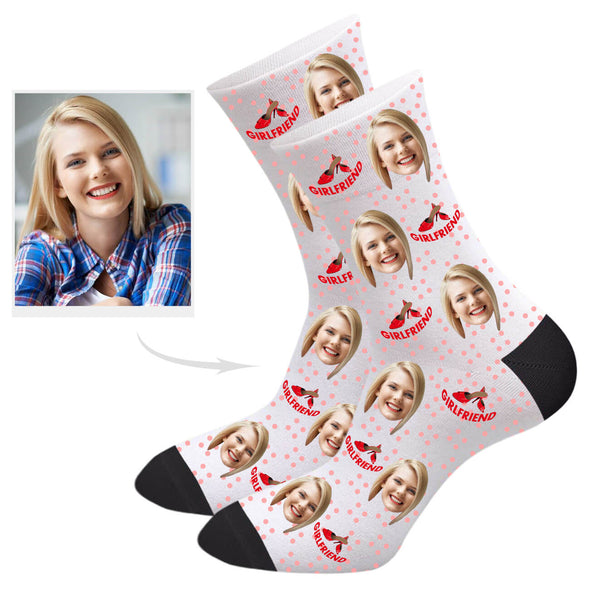 Custom Girlfriend Socks Personalized Photo Printed Gifts