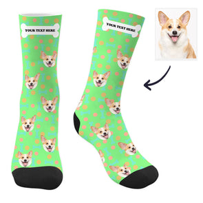 Custom Dog Socks with Text
