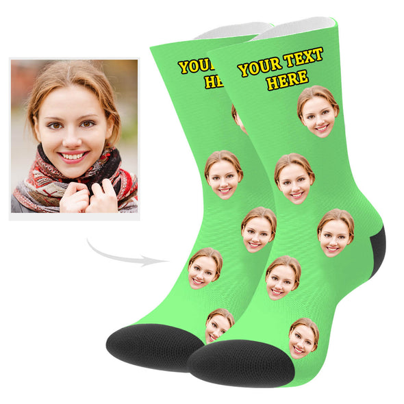 Custom Picture Socks with Your Text