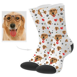 Custom Puppy Picture Socks