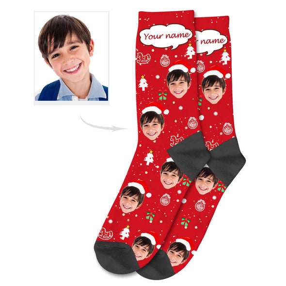 Custom Christmas Socks with Name