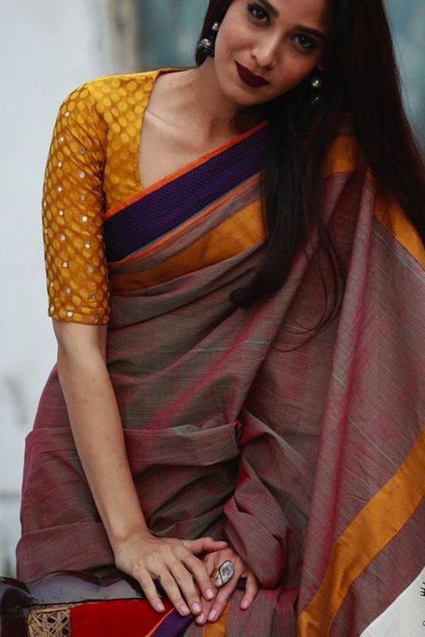 Desirable Multi Colored Soft Silk Saree - CD110 - Ethnik Mall