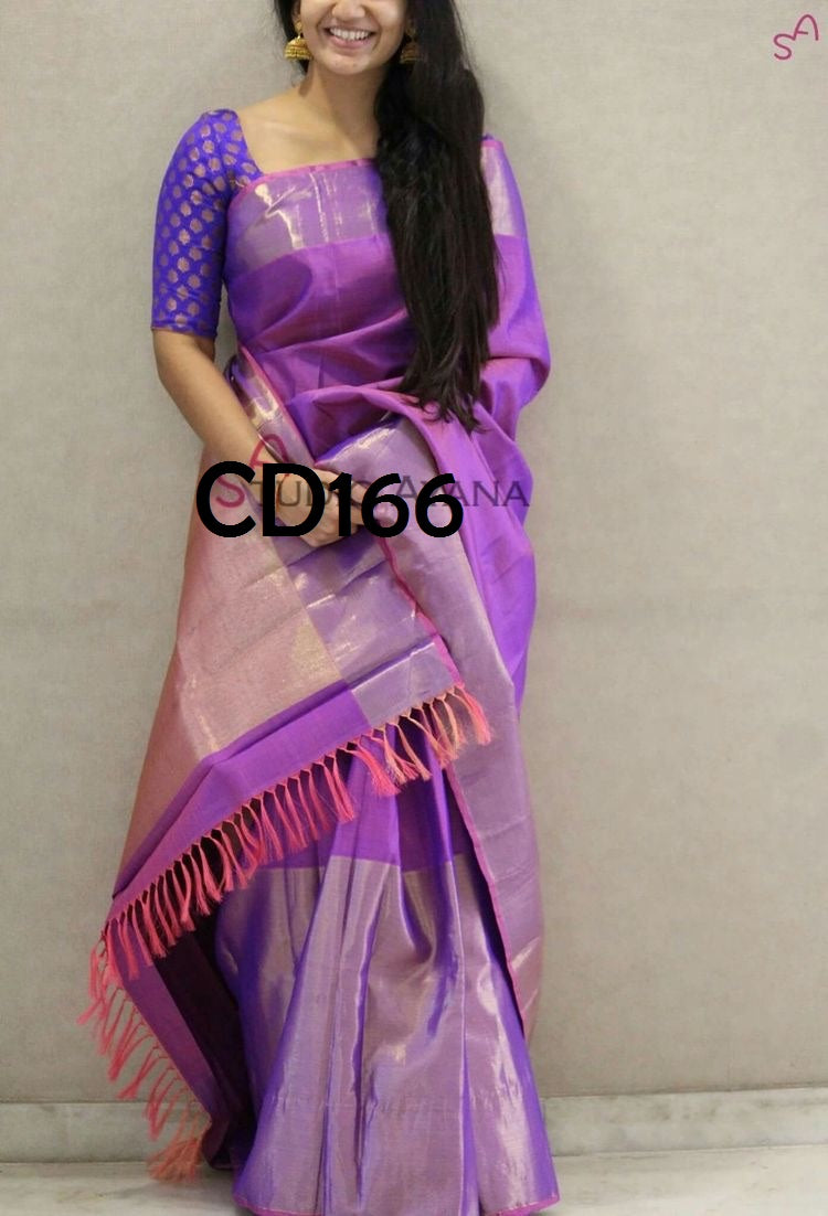 Multi Color Soft Silk Designer Wear Saree - Cnd573