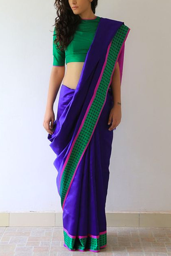 Appealing Blue Colored Soft Silk Fancy Partywear Functional Saree - CD229 - Ethnik Mall