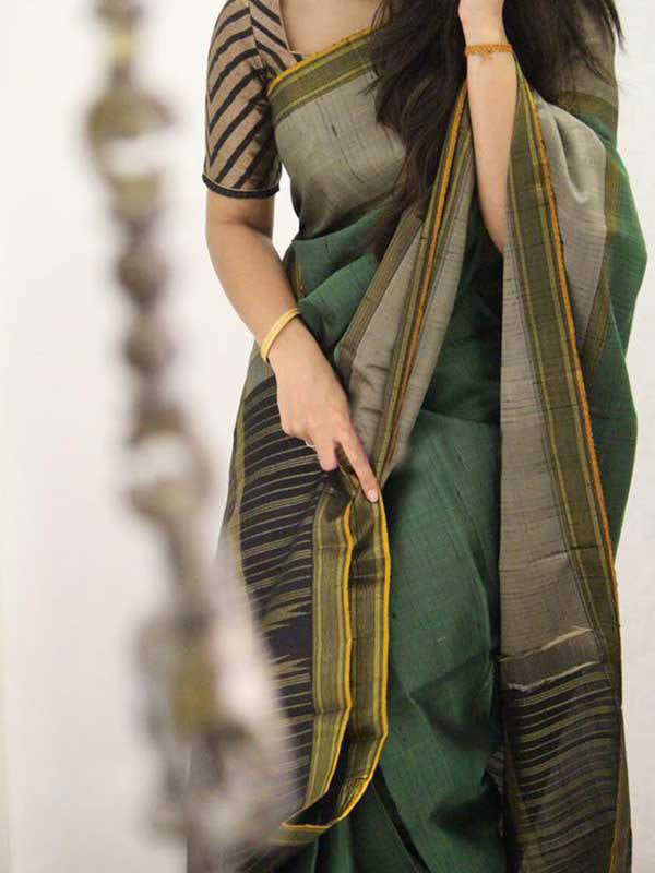 Silk Saree With Blouse Multicolored For Women - CND1866