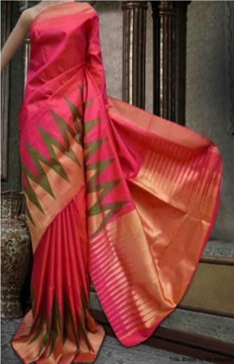 Awesome Pink Color Soft Silk Designer Wear Saree - cnd576 - Ethnik Mall