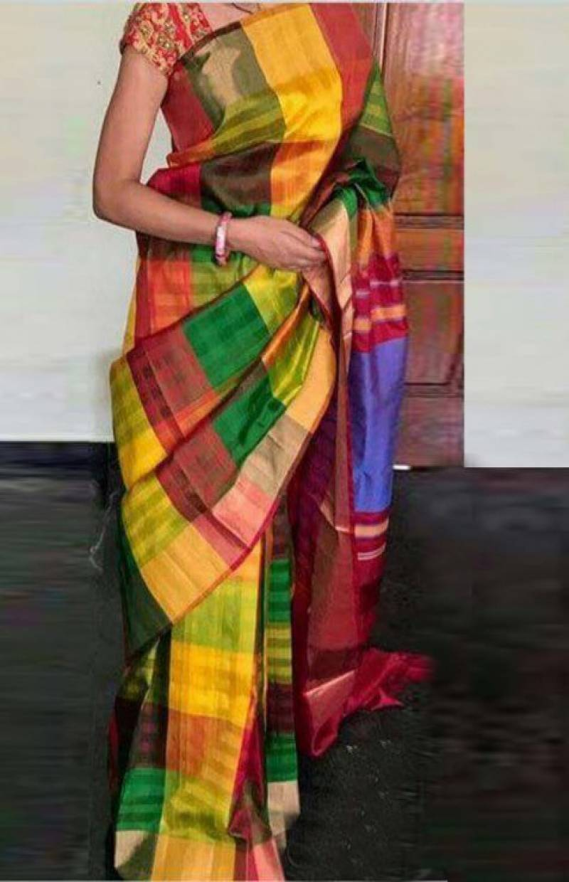 Artistic Multi Color Soft Silk Designer Sarees - cnd713 - Ethnik Mall