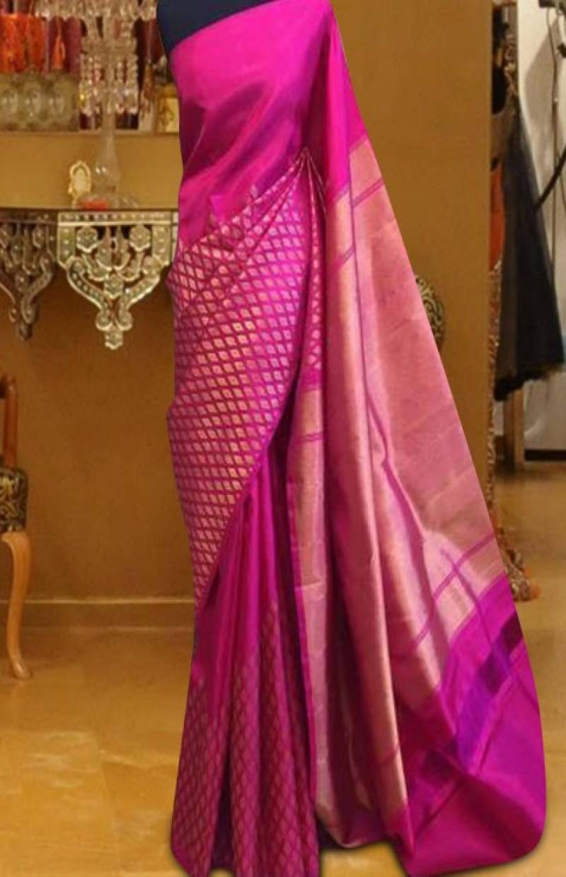 Admirable Pink Color Pattern Soft Silk Saree - cnd602 - Ethnik Mall