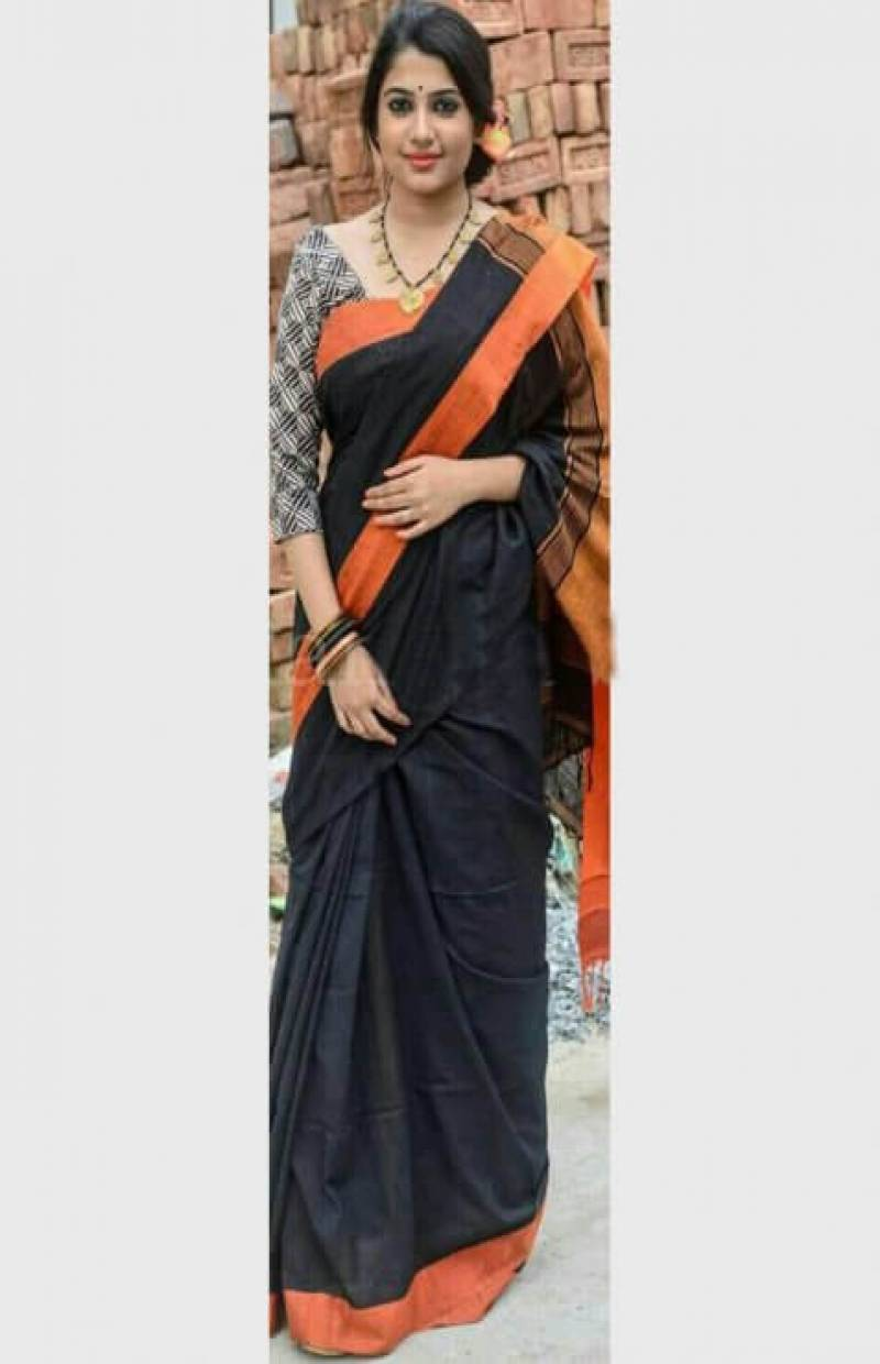 Mind Blowing Black Color Soft Silk Designer Sarees-cnd634
