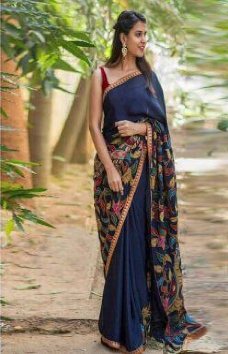 Divine Blue Color Soft Silk Designer Sarees-cnd639 - Ethnik Mall