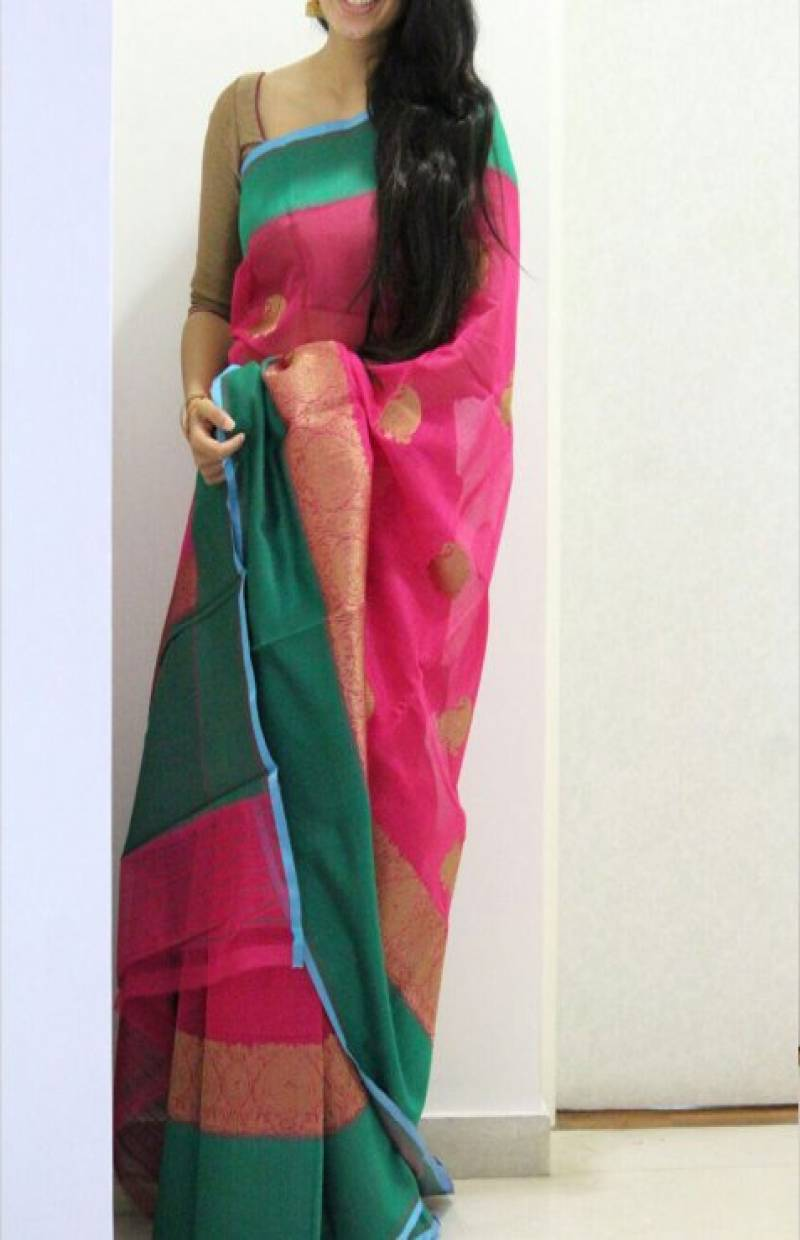 Fashionable Multicolor Color Soft Silk Designer Sarees - cnd701