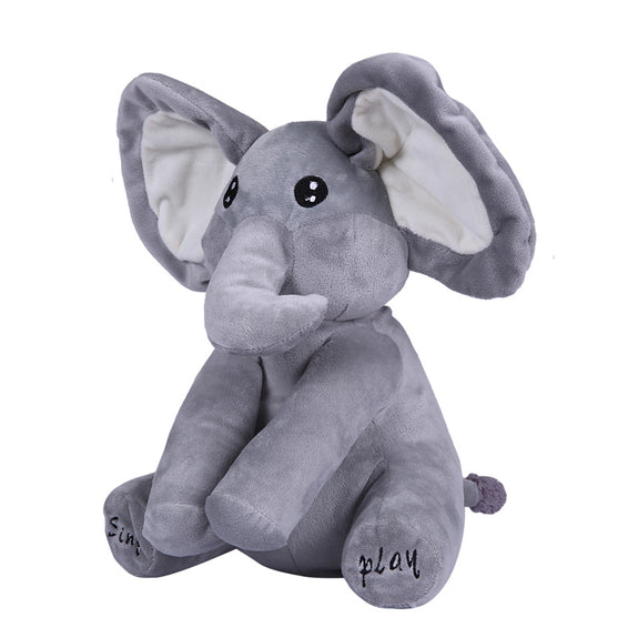 elephant plush toy sing and play fame rain