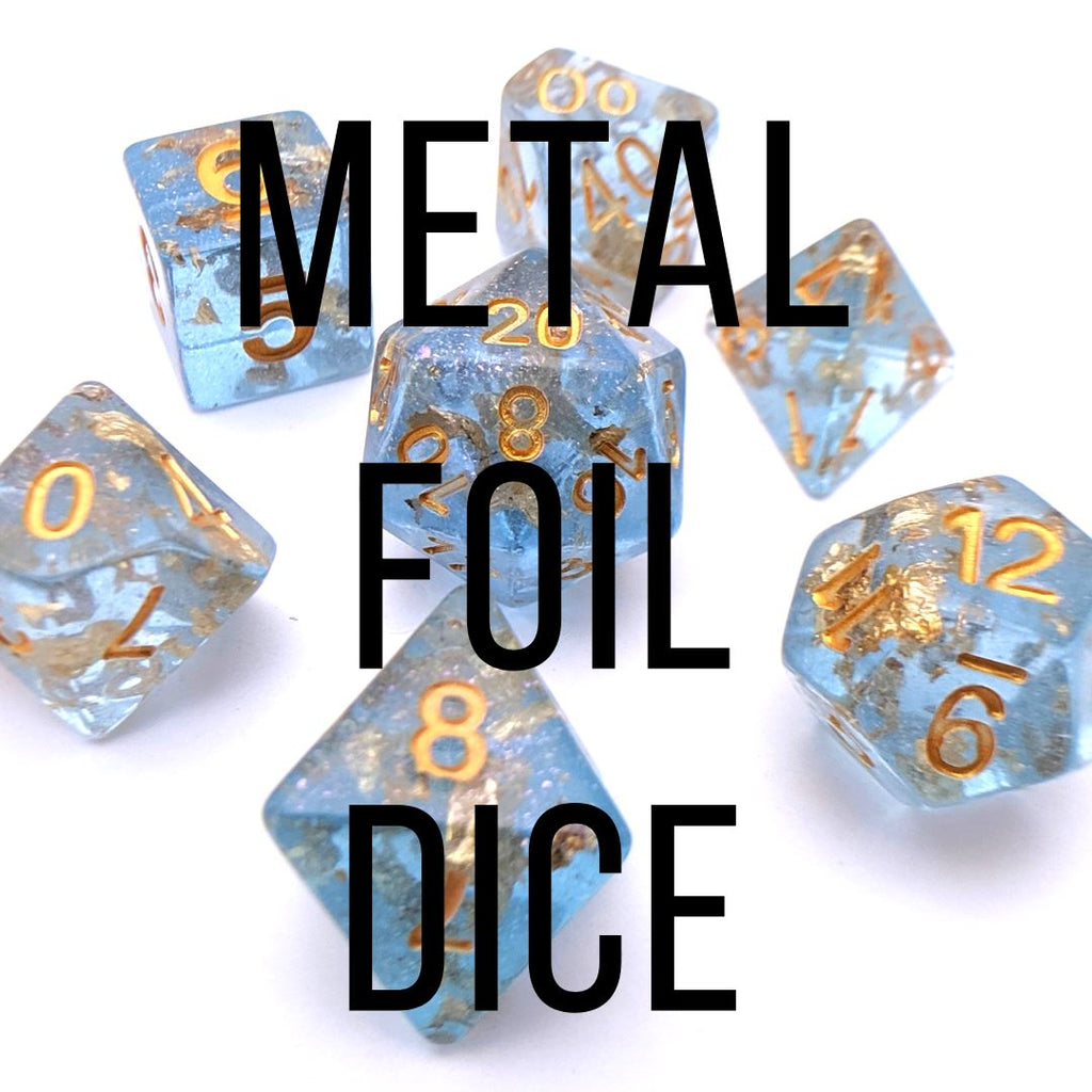 Metal Foil Dice Sets