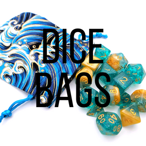 Dice bags for dice set, table top role playing game accessories