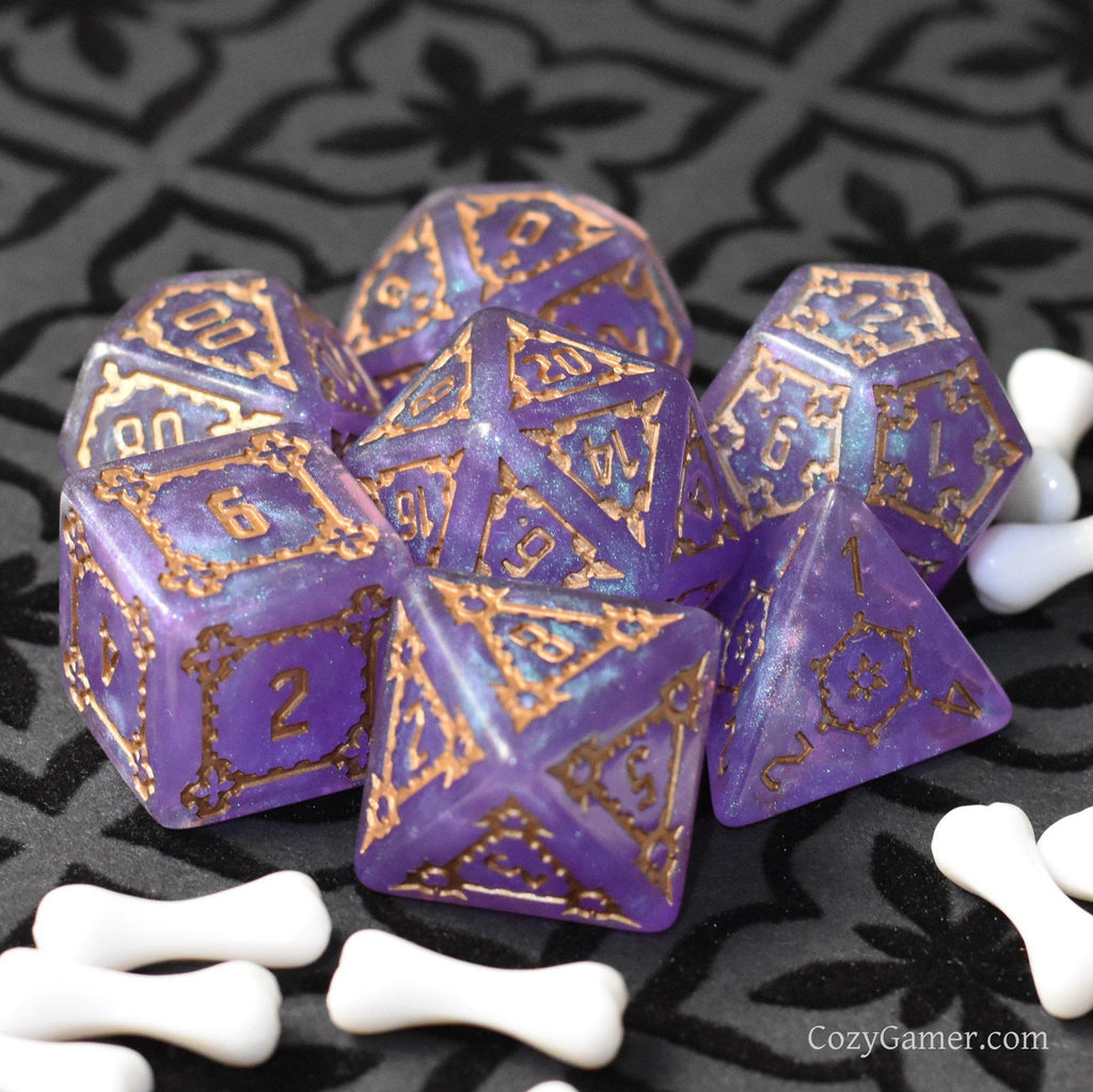 Giant Castle Dice. Extra Large 7 Piece Dice Set - CozyGamer