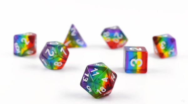 Translucent Rainbow Dice Set