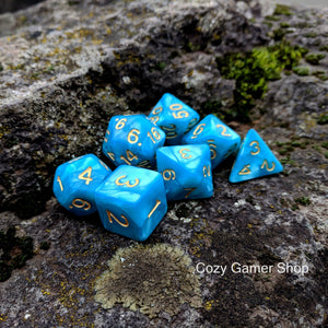 Blue Kami Dice Set