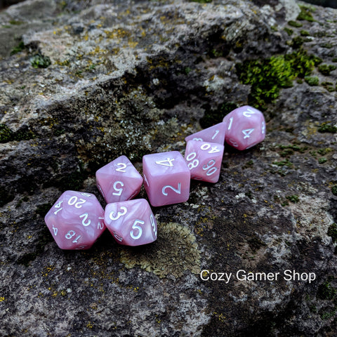 Lilac Dream 7 Piece Dice Set