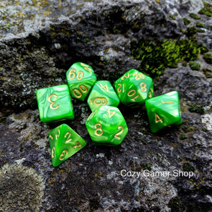 Grasshopper Dice Set-Dice sets-CozyGamer