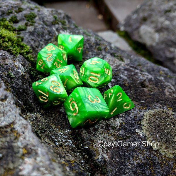 Grasshopper Dice Set