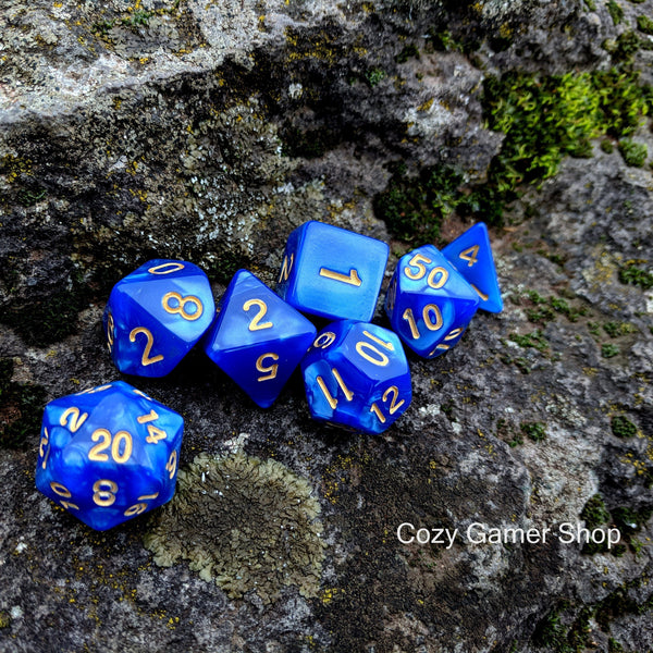 Ocean Deep Dice Set-Dice sets-CozyGamer