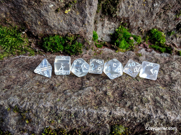 Clear Casting DnD Dice Set, Clear Dice Set