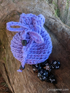 Skulls Dice Bag Set, Pure Black Dice Set and Purple Dice Bag