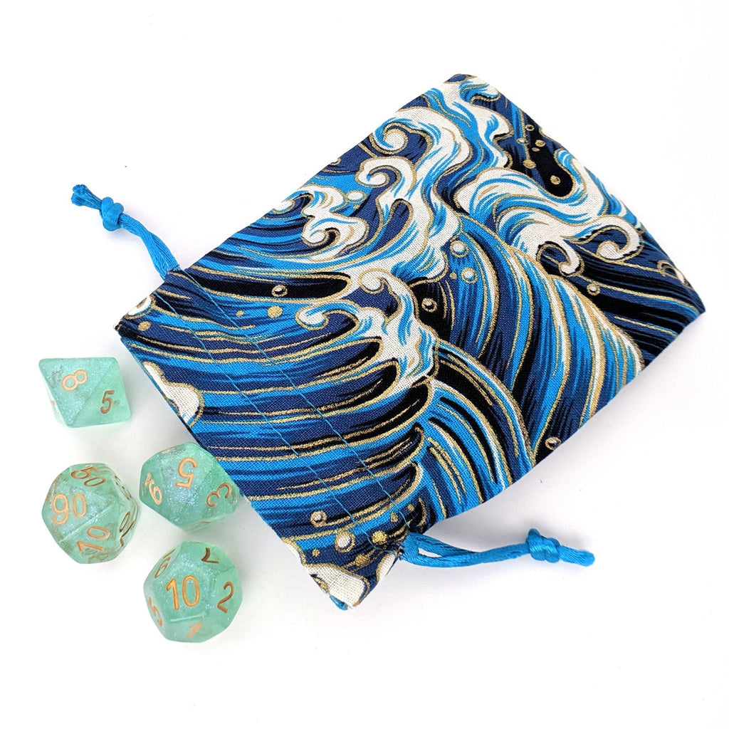 Ocean Wave Dice Bag - CozyGamer