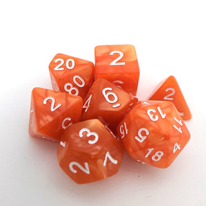 Pumpkin Orange Dice Set.