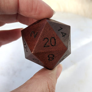 Purple Heart Large Wood D20