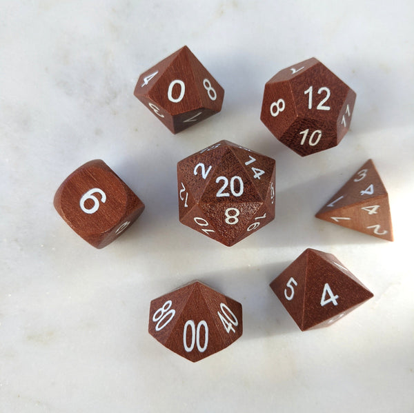 Red Sandalwood Wood Dice set