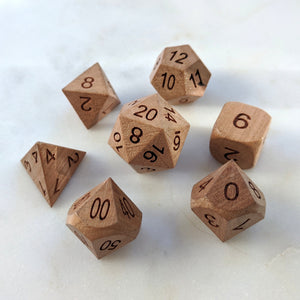 Cherry Wood Dice set