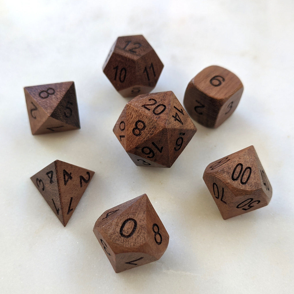 Acacia Wood Dice set - CozyGamer