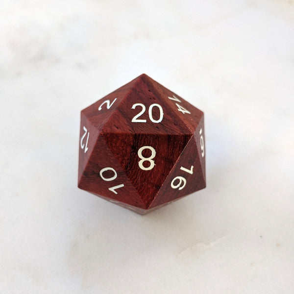 Red Wood Large D20
