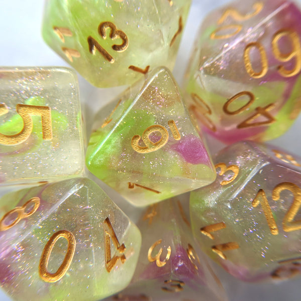 Luminous Dragon DnD Dice Set