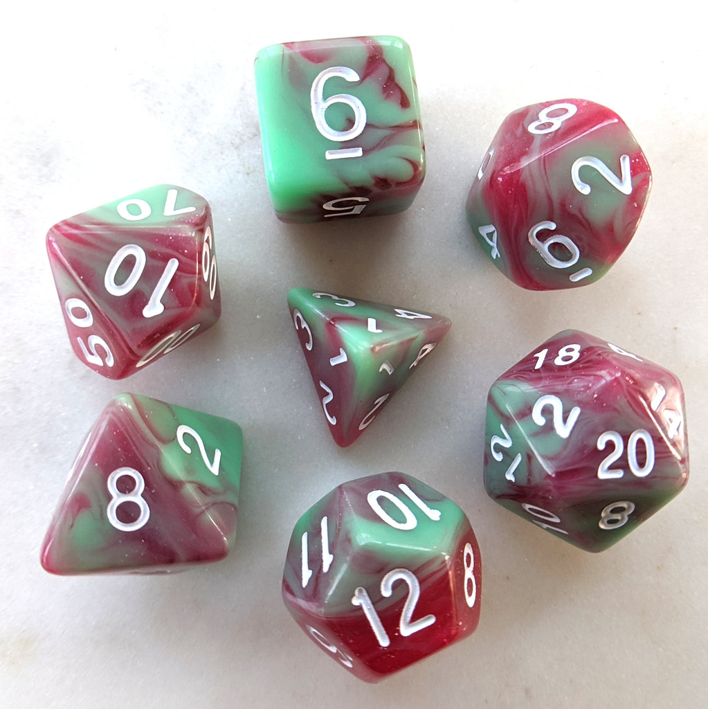 Strawberry Cream Dice Set - CozyGamer