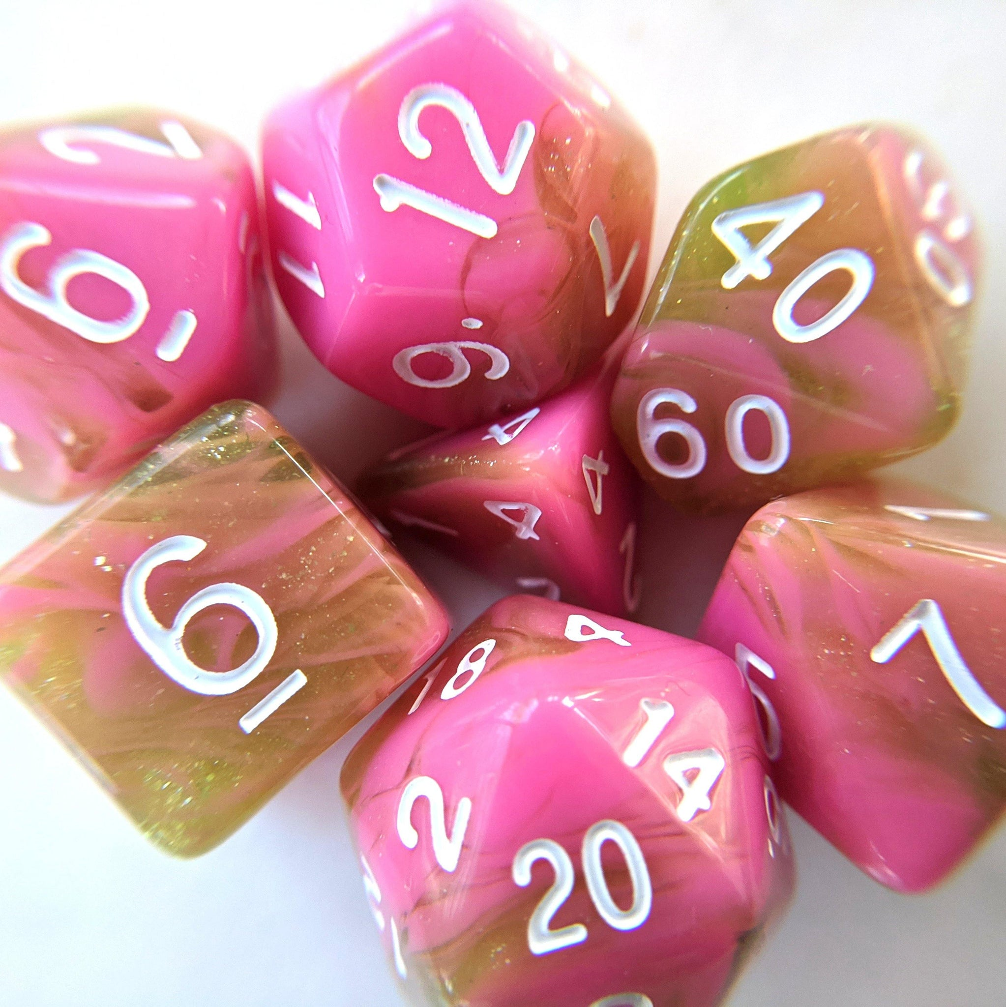 Apple Taffy Dice Set