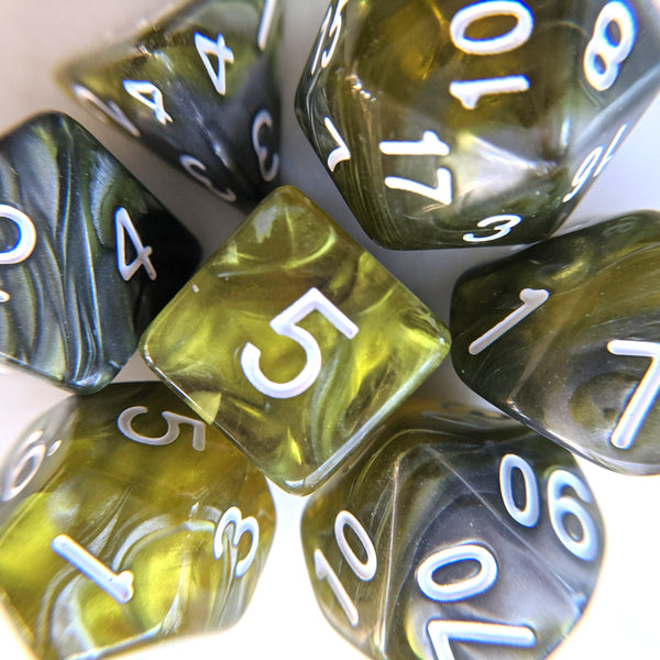 Green Flow Dice Set