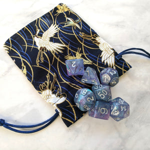 White Crane Dice Bag