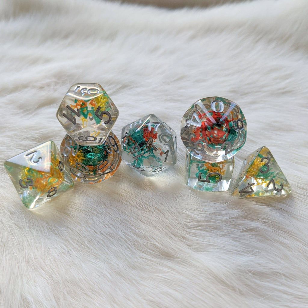 Coral Reef DnD Dice Set - CozyGamer