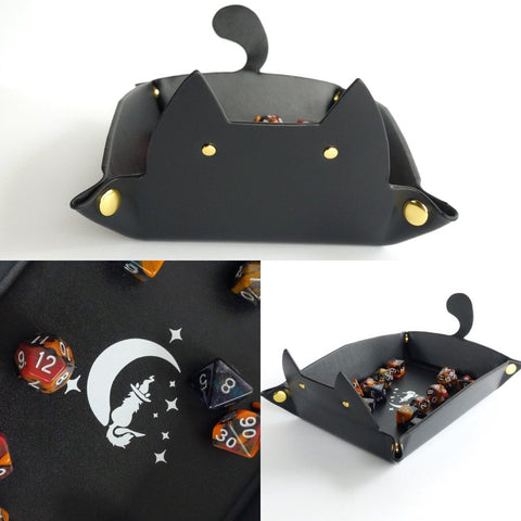 Cat Dice Tray by Cozy Gamer
