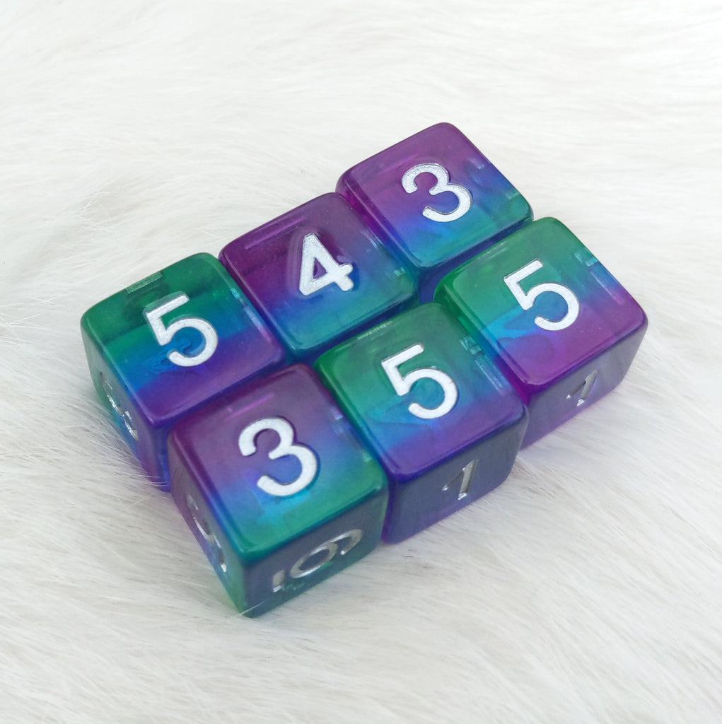 Aurora D6 Set. Set of 6 - CozyGamer